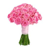 Send Diwali Flowers to India. Order for Pink Roses Bouquet 50 Flowers to India