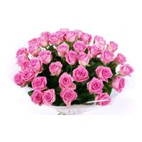 Online Diwali Flowers in India that includes Pink Roses Bouquet 60 Flowers to India