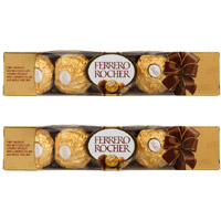 Deliver Rakhi and 10 Pieces Ferrero Rocher Chocolates to India. Rakhi Gifts to India