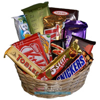 Order for Diwali Gifts to India. Basket of Assorted Diwali Chocolate in Chandigarh