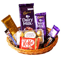 Best Diwali Gifts to Chandigarh. Celebrate With Basket of Chocolates in India