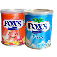 Send Rakhi Gifts to India that include 2 Box Fox Candy.