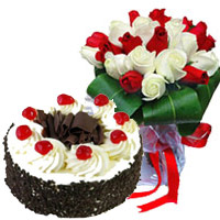Valentine Red Roses Flowers to India and Cake to India