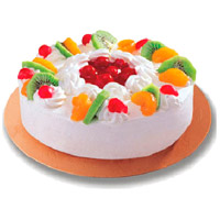 Deliver Online 2 Kg Fruit Cake with Rakhi From 5 Star Bakery Cake to India Same Day Delivery