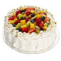Online Cake Delivery in India. Send 1 Kg Eggless Fruit Cakes in India
