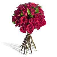 Valentine's Day Flowers Delivery to Vijayawada - Valentine Red Roses Bouquet 12 Flowers