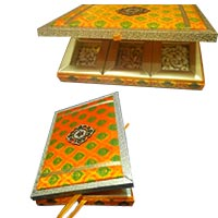 Send Fancy Dry Fruits to India in Box of MDF 2 Kg. Diwali Gifts to Pune