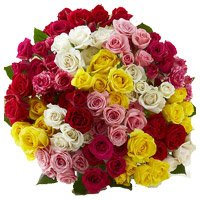 Send Mixed Rose Bouquet 100 Flowers to India on Diwali