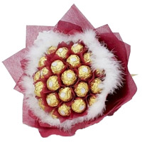 Send 32 Pcs Ferrero Rocher Bouquet Delivery in India. Diwali Gifts to Chennai