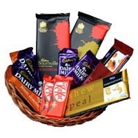 Send Diwali Chocolates to Bangalore, Online Basket of Assorted Chocolates in India