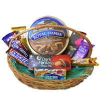 Diwali Gifts to India and Basket of Chocolates and Cookies
