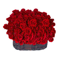 Flowers to India : Roses Baskets
