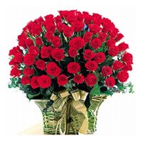 Same Day Flowers to India : 75 Rose Baket