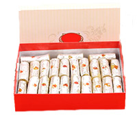 Online Diwali Gifts to India. 500gm Kaju Roll Sweets to India