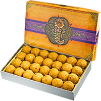 Diwali Gift Delivery in India consisting 1 kg Besan Laddu to India