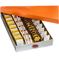 Special Diwali Gifts Delivery in India. 500 gm Assorted Kaju Sweets to India