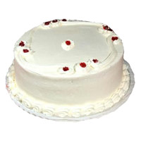 Send Online Cake and Rakhi in India with 2 Kg Vanilla Cake