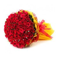 Mother's Day Flowers Delivery in India. Red Roses Bouquet 150 Flowers in Delhi