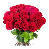 Online Flowers to Mumbai. Red Roses Bouquet 24 Flowers Online India on Mother's Day