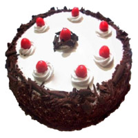 Rakhi Cakes in India. 2 Kg Black Forest Cake From 5 Star Bakery