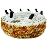 Send Rakhi Cakes to India with 2 Kg Butter Scotch Cake From 5 Star Bakery