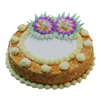 Order Rakhi and Eggless Cakes. 500 gm Eggless Butter Scotch Cakes to India online