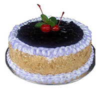 Rakhi Cakes to India contain 1 Kg Blue Berry Cake