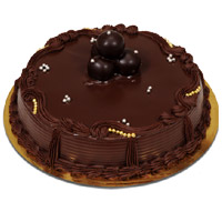 Online Rakhi Cake to India including 2 Kg Chocolate Truffle Cake From 5 Star Bakery