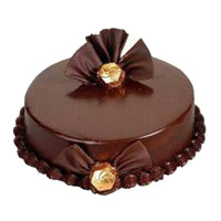 Online Rakhi Cake to India. 2 Kg Chocolate Truffle Cake