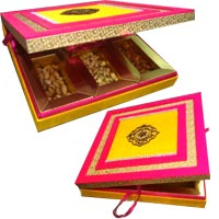1 Kg Dry Fruits Delivery India in Box of MDF. Send Rakhi Gifts to India