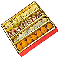 Send Rakhi with 1 kg Assorted Sweets to India