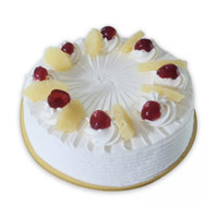 Send Online 500 gm Pineapple Cake in India on Rakhi