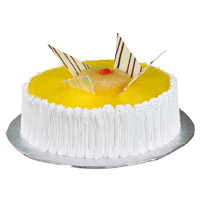 Send Cakes to Gurgoan, 1 Kg Pineapple Cake From 5 Star Bakery on Rakhi