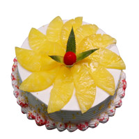 Send Cake to Gurgoan including 2 Kg Pineapple Cake From 5 Star Bakery on Rakhi