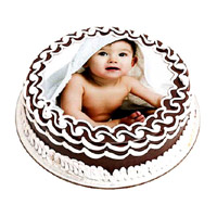 Send Rakhi with Cake to India. 1 Kg Chocolate Photo Cake