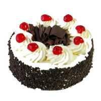 Send Rakhi Cake to India. 1 Kg Black Forest Cake