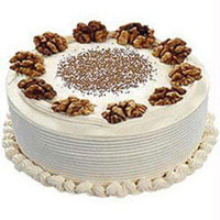 Send Rakhi and Cakes to India - 500 gm Vanilla Cake