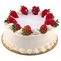 Rakhi Cake in India with 1 Kg Strawberry Cake From 5 Star Bakery