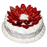 SOnline Rakhi Cake Delivery to India including 3 Kg Strawberry Cake From 5 Star Bakery