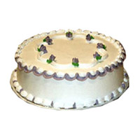 Rakhi Cake Delivery India, Send 1 Kg Vanilla Cake on Rakhi
